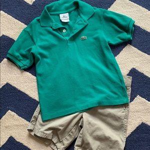Boys Lacoste Pique Polo Shirt AND Nautica Shorts